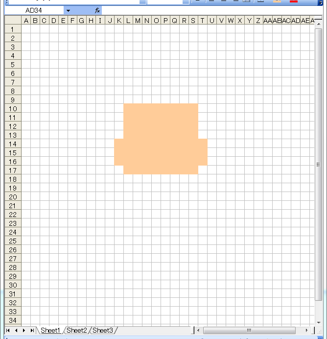 ドット絵 作り方 エクセル 1