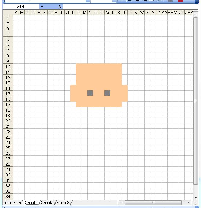 ドット絵 作り方 エクセル 2