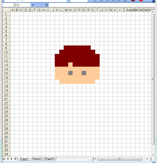ドット絵 作り方 エクセル 3
