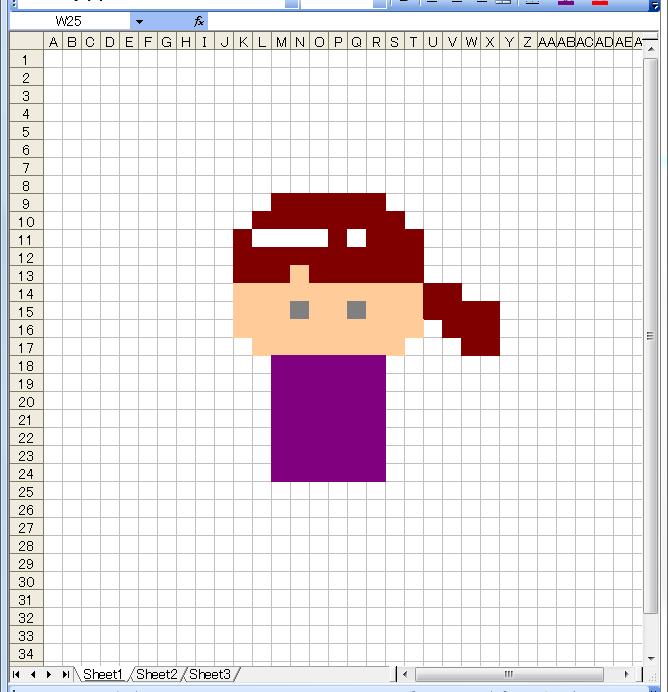ドット絵 作り方 エクセル 5