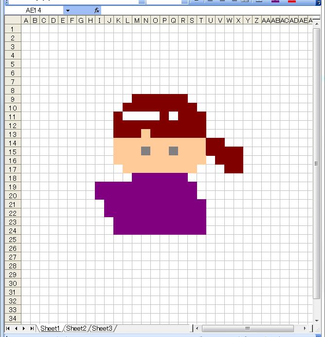 ドット絵 作り方 エクセル 6