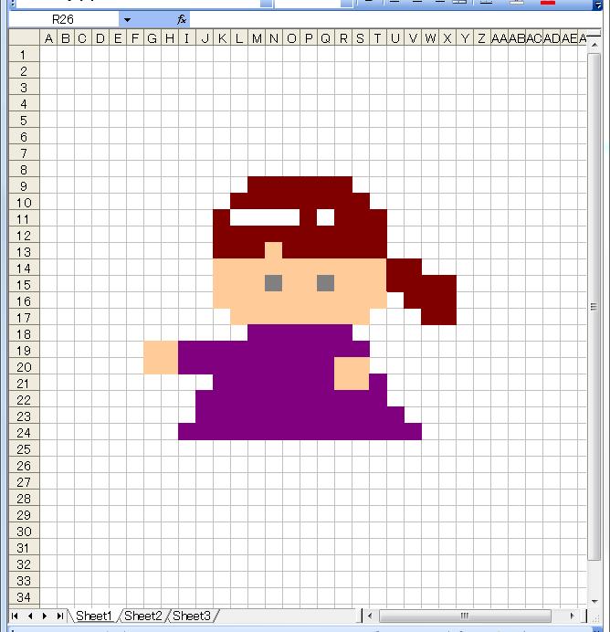 ドット絵 作り方 エクセル 7