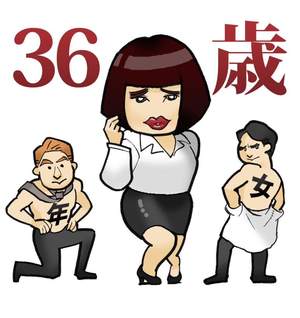 36歳 誕生日 昭和57年 1982